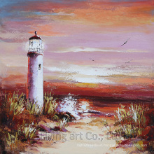 Seascape Reproduction Craft Art Oil Painting for Lighthouse